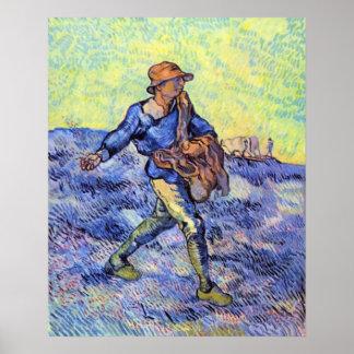 El sembrador 1 de Vincent van Gogh Póster