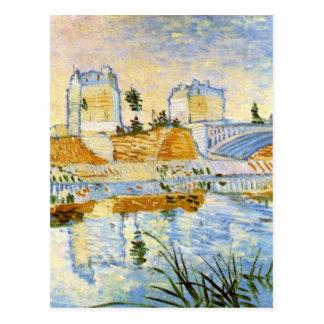 El Sena con el Pont de Clichy, Vincent van Gogh Postal