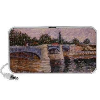 El Sena con el Pont del Grande Jette de Van Gogh Altavoz De Viaje