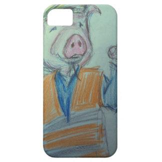 El señalar del cerdo de la construcción iPhone 5 Case-Mate fundas