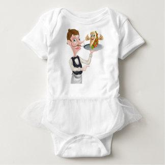 El señalar y Kebab del camarero del dibujo animado Body Para Bebé