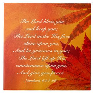 El señor Bless You, 6:24 de los números - 26, Azulejo