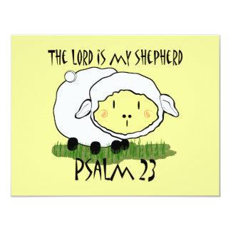 El SEÑOR es mi salmo 23 del pastor Invitación 10,8 X 13,9 Cm