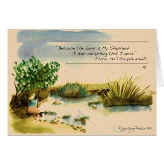 El señor es mi tarjeta de felicitación del pastor