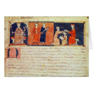 El señor feudal que predica su sermón tarjeta de felicitación