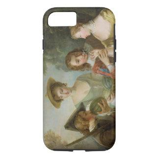 El sentido del olfato, c.1744-47 (aceite en lona) funda iPhone 7
