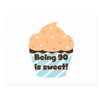 El ser 90 es camisetas y regalos dulces del cumple tarjetas postales