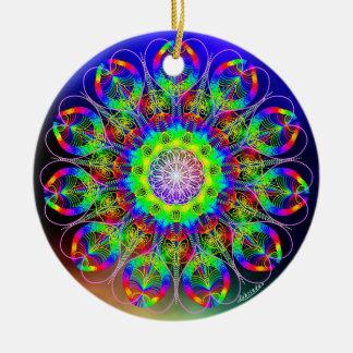 El ser es bastante/simetría de paz ornamentos de navidad