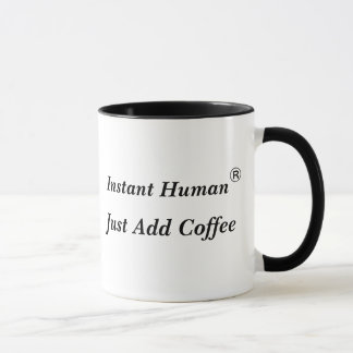El ser humano inmediato, apenas añade el café - taza