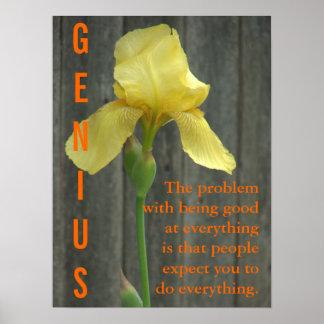 El ser un genio es el trabajo duro 3 póster