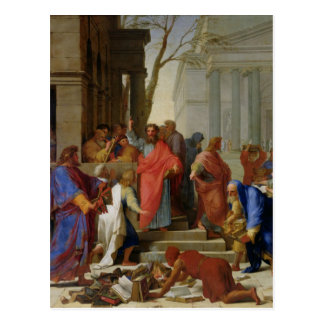 El sermón de San Pablo en Ephesus, 1649 Postal
