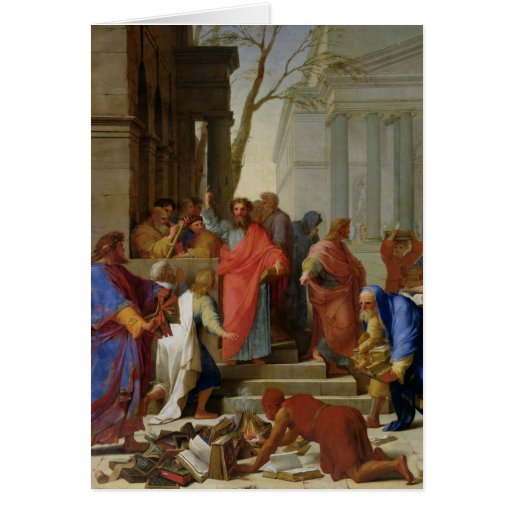 El sermón de San Pablo en Ephesus, 1649 Felicitación