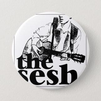 """el sesh"" 3"" botón circular"