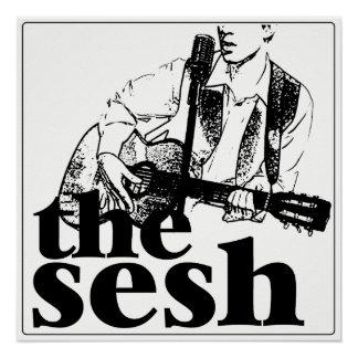 """el sesh"" poster blanco (20"" x20"")"