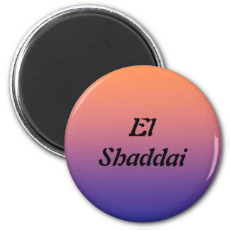 EL Shaddai - todo suficiente Imanes Para Frigoríficos