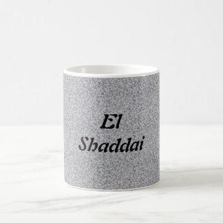 EL Shaddai - todo suficiente Taza Básica Blanca