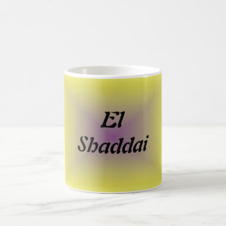 EL Shaddai - todo suficiente Tazas De Café
