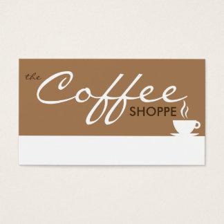 el shoppe del CAFÉ (personalizable del color) Tarjeta De Negocios