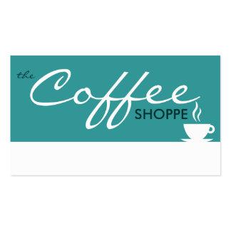 el shoppe del CAFÉ (personalizable del color) Tarjetas De Visita