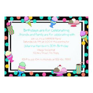 El Shoppe del helado invita Invitación 12,7 X 17,8 Cm