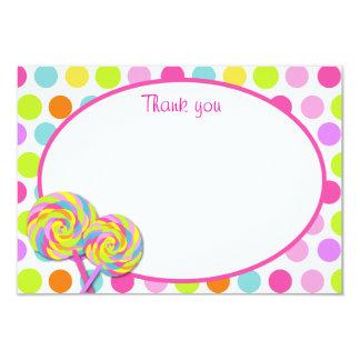El Shoppe dulce del Lollipop le agradece las Invitación 8,9 X 12,7 Cm