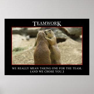 El significado real del trabajo en equipo (l) póster