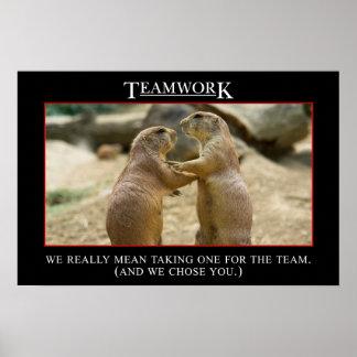 El significado real del trabajo en equipo (s) póster
