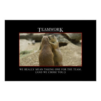 El significado real del trabajo en equipo [XL] Póster