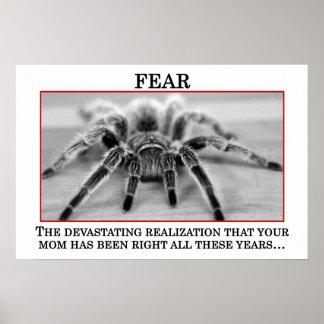 El significado verdadero del miedo (s) póster