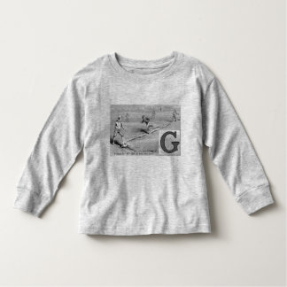 El significar inicial de los deportes de G de los Camiseta De Bebé