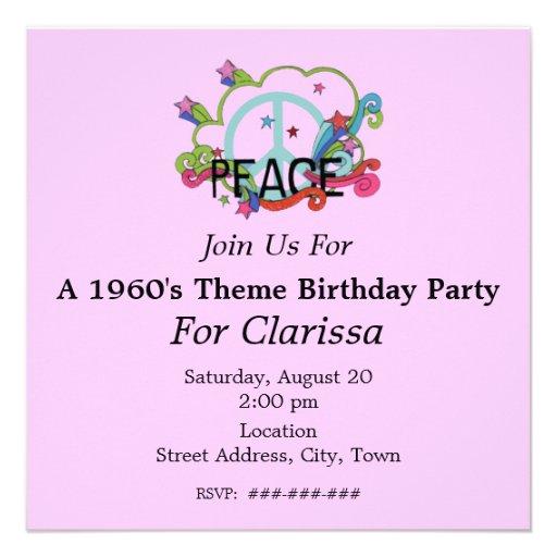 El signo de la paz abstracto protagoniza cumpleaño comunicados personalizados