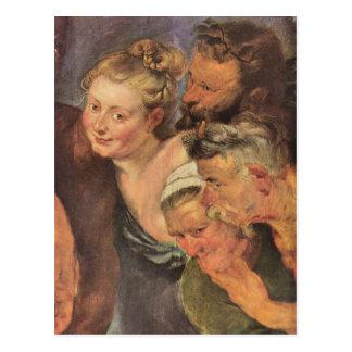 El Silenus borracho, detalle de Paul Rubens Tarjeta Postal
