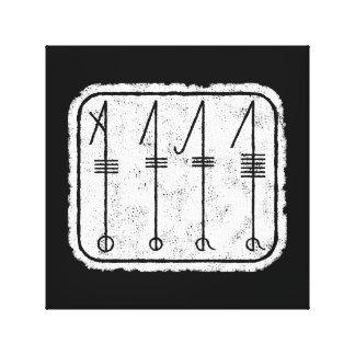 El símbolo de SVEFNTHORN Viking Lienzo