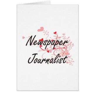 El sistema de trabajo artístico del periodista del tarjeta de felicitación