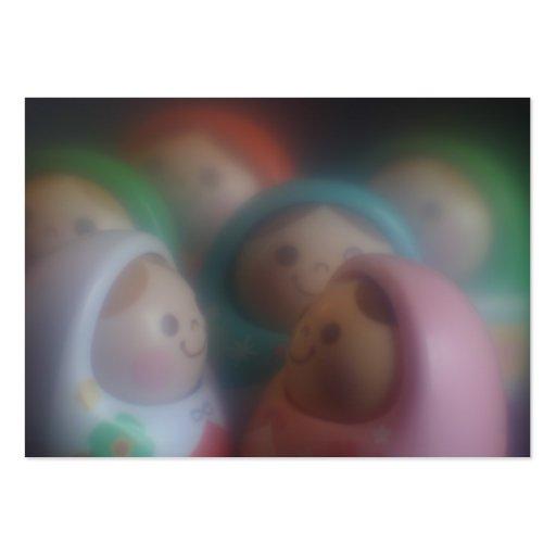 El smiley de las muñecas hace frente a negocio/a l tarjetas de visita