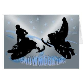 El Snowmobiling - tarjeta de Snowmobilers