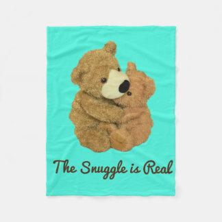 El Snuggle es manta real del paño grueso y suave