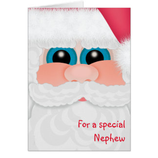 El sobrino dulce en la diversión Santa del navidad Tarjeta