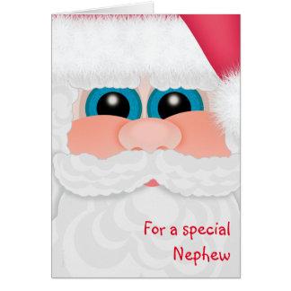 El sobrino dulce en la diversión Santa del navidad Tarjeta De Felicitación