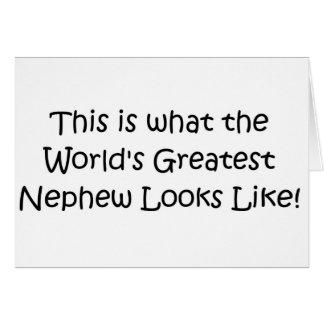 El sobrino más grande del mundo tarjeta de felicitación