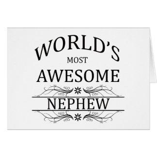 El sobrino más impresionante del mundo tarjeta de felicitación