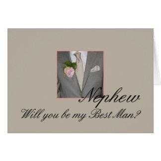 El sobrino sea por favor el mejor hombre - tarjeta de felicitación