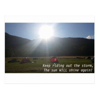 El sol brillará la postal