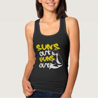 El SOL hacia fuera DISPARA CONTRA hacia fuera la Camiseta Con Tirantes