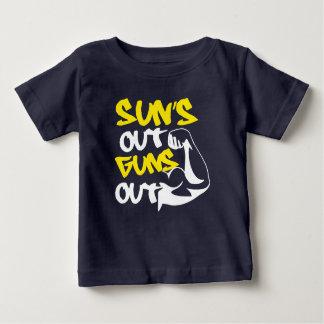 El SOL hacia fuera DISPARA CONTRA hacia fuera la Camiseta De Bebé