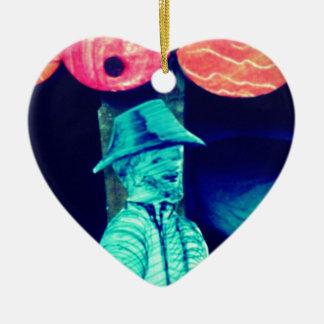 El soldado de caballería del expodition adorno de cerámica en forma de corazón