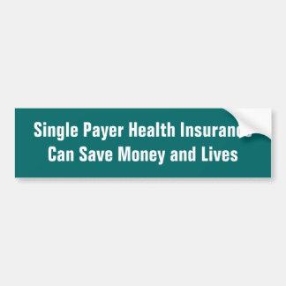 El solo seguro médico del pagador puede ahorrar el pegatina para coche