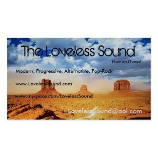 El sonido sin amor tarjetas de visita
