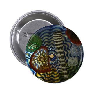 El soplar de cristal creativo chapa redonda 5 cm