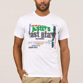 El soporte pasado del soltero camiseta
